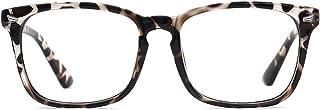 TIJN Blue Light Blocking Glasses for Women Men Clear Frame Square Nerd Eyeglasses Anti Blue Ray Computer Screen Glasses