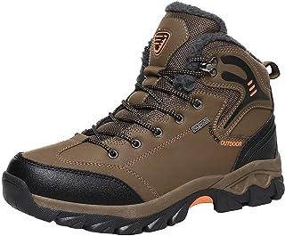 Stivali da Neve Uomo Inverno Pelliccia Caloroso Trekking Outdoor Sportive Boots Escursionismo Scarpe Antiscivolo