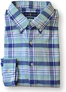 e5644cee7 Polo Ralph Lauren Men Classic Fit Oxford Sport Shirt, Green Plaid, Medium