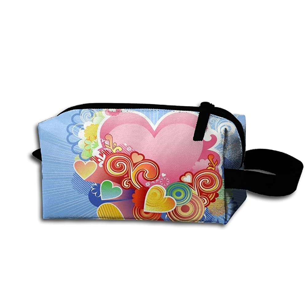 Colby Keats Cosmetic Makeup Bag Valentines Day Pouch Toiletry Storage Bag Portable Lightweight Travel Toiletry Bag for Women Girls