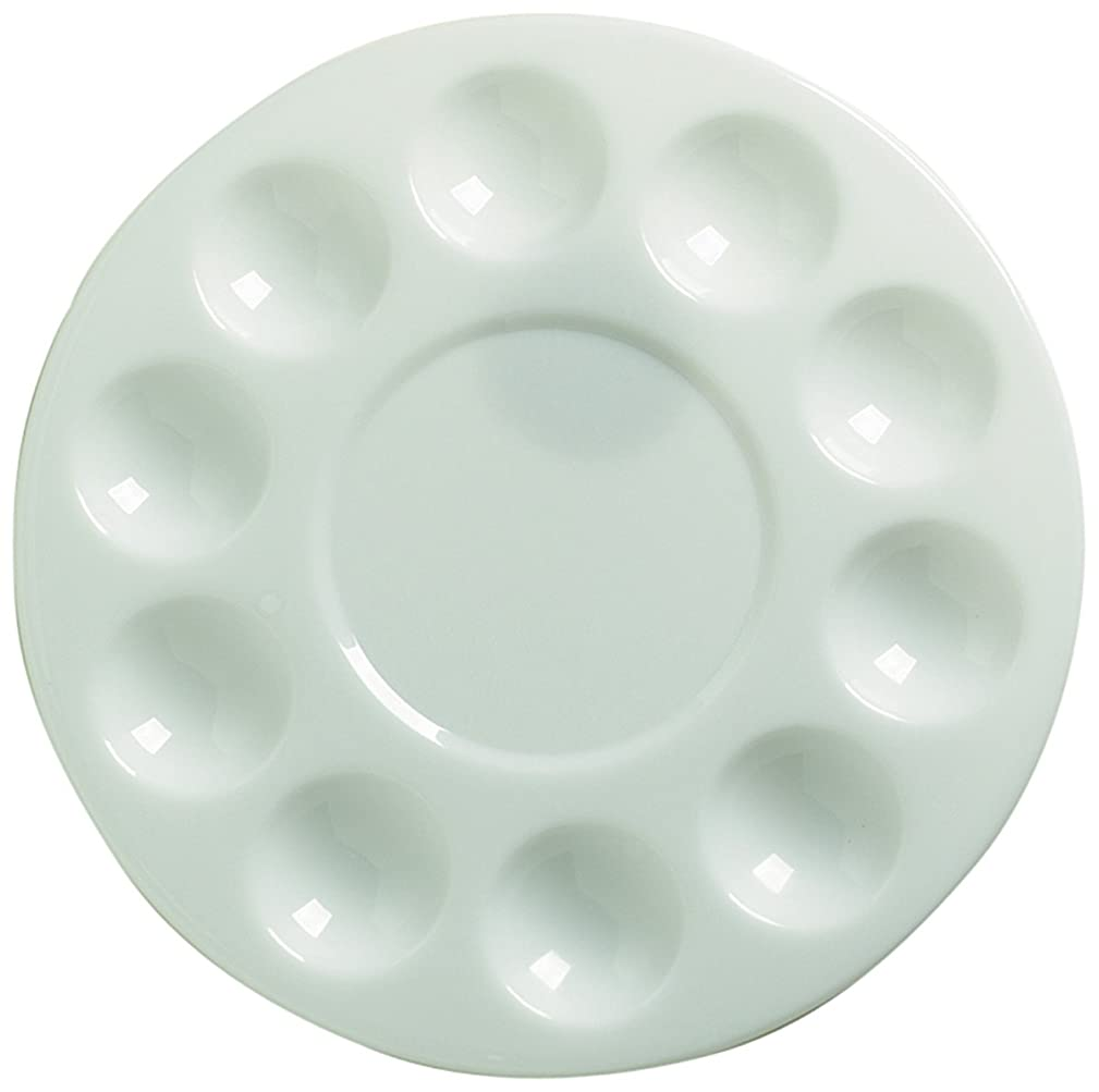 Pro Art Round Plastic Palette Tray, 10 Well kihoqzs398350