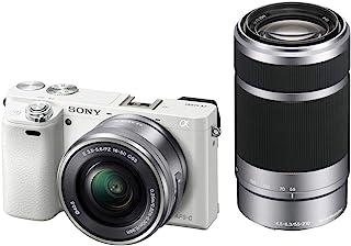 ソニー ミラーレス一眼 α6000 ダブルズームレンズキット E PZ 16-50mm F3.5-5.6 OSS + E 55-210mm F4.5-6.3 OSS ホワイト ILCE-6000Y W