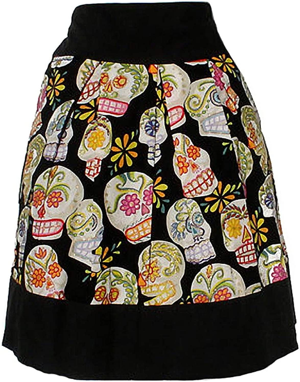 Hemet Women's Sugar Skulls Day of The Dead Skirt