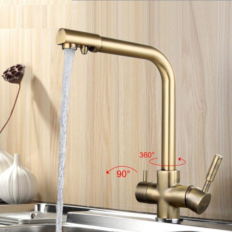 Küchenarmatur New Bronze Küchenarmatur Seven Letter Design 360-Grad-Drehung mit Wasseraufbereitung Features Doppelgriff