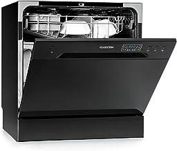 Klarstein Amazonia 8 Lavavajillas - Diseño compacto, Clase energética A+, 6 programas lavado, 2 cestos extraibles, 1620 W, Acero inoxidable, Modo eco, 55 cm ancho, Negro