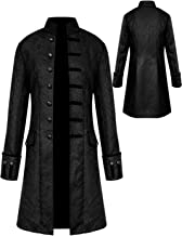 Best Mens Vintage Tailcoat Jacket Goth Long Steampunk Formal Gothic Victorian Frock Coat Costume for Halloween Review