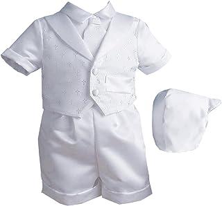 3798d70452 Lauren Madison Baby Boy Christening Baptism Infant Vestie Set With Short