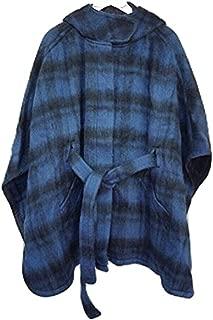F862366 Plaid Cape Coat XS/S Dark Slate