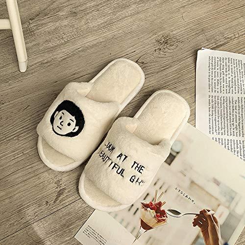 Zapatos de Piscina,Zapatillas de algodón de Pareja roja Neta Moda otoño e Invierno-A_40-41#,Zapatos Minimalistas