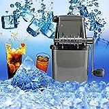 EIS-Zerkleinerer, Manuell Eiszerkleinerer, Crushed Ice Maker, Eiscrusher Eismaschine mit Handkurbel, für Sommer Bar Küche Vereist Trinken Zubehör (Schwarz)