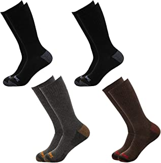 Timberland Socks (4 Pairs) Crew Socks For Boys, Kids Socks, Outdoor Indoor Boot Socks, Dress Socks