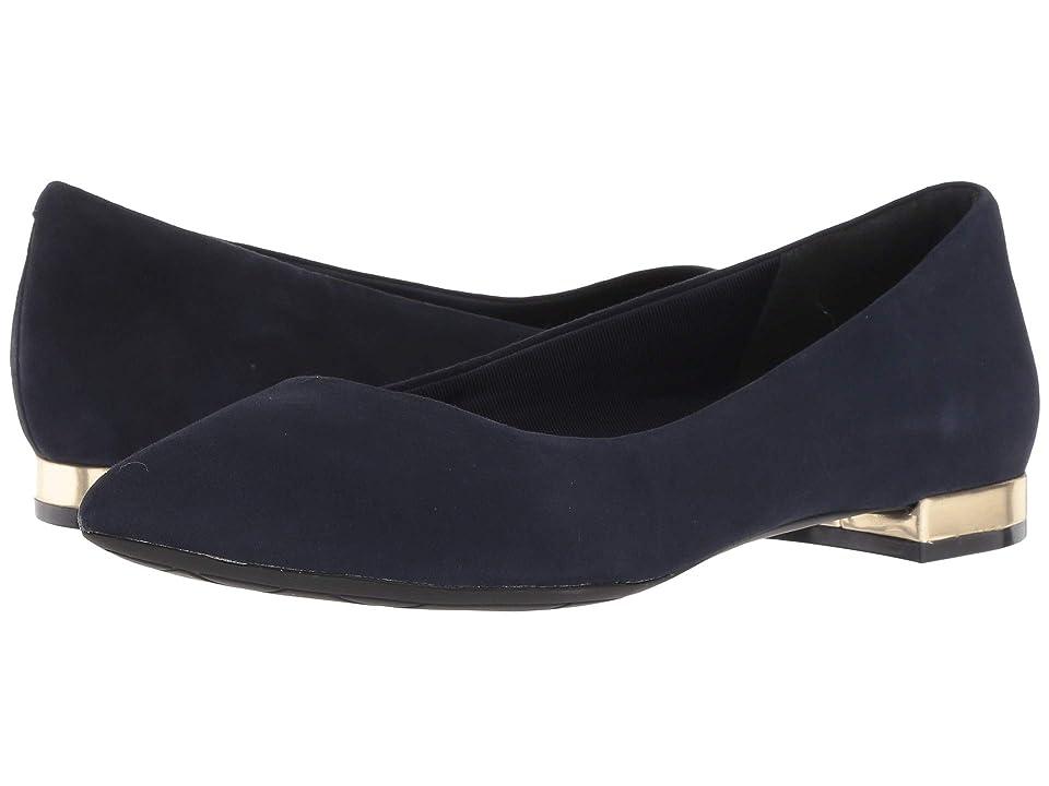 Rockport Total Motion Adelyn Ballet (Dark Sapphire Suede) Women