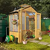 BillyOh 3x6' Lincoln Wood Polycarbonate Greenhouse with Opening Roof Vent