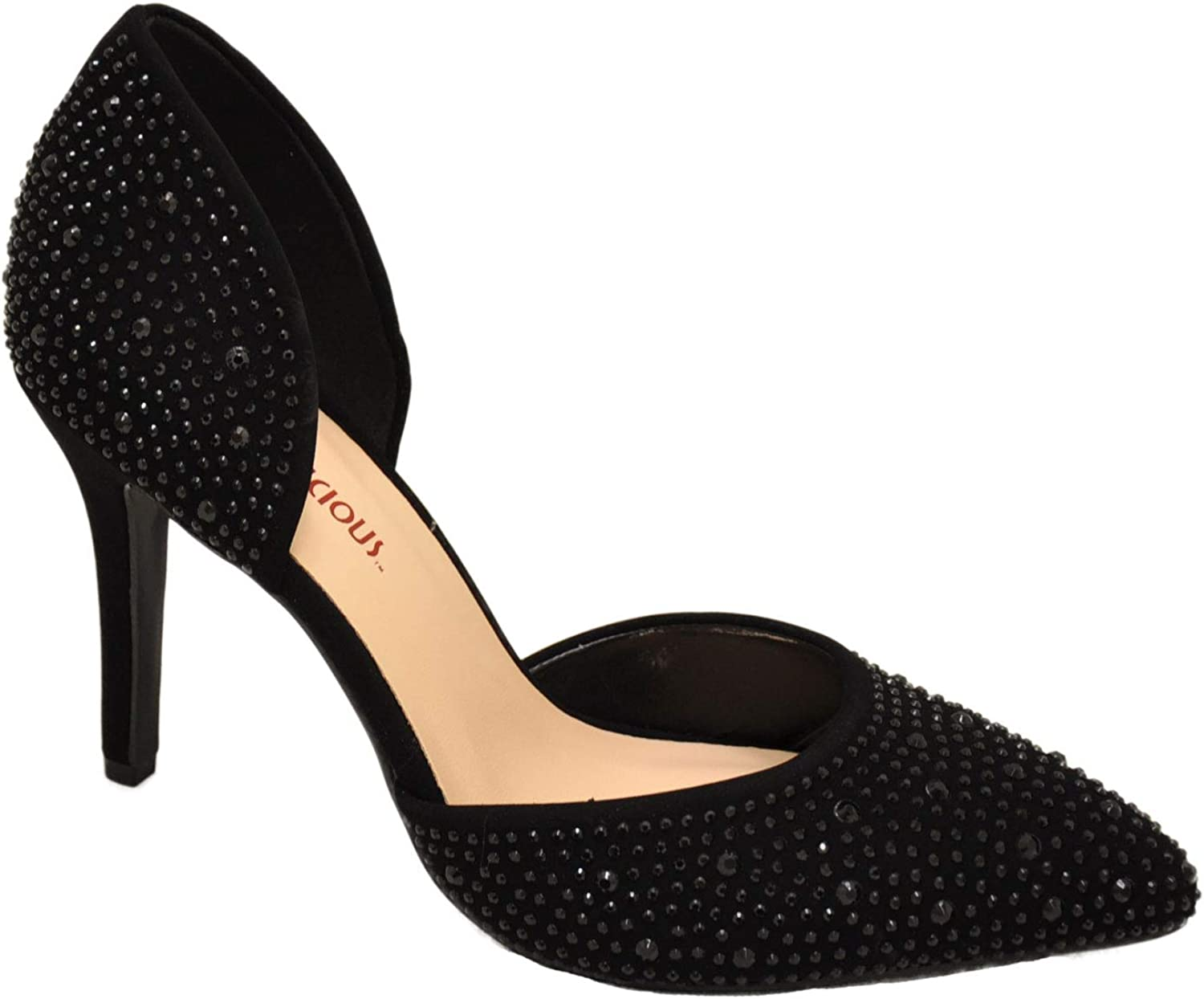 Delicious Apply Women's Slip On Embellished D'Orsay Pumps