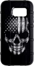 EGO Tactical Limited Edition Design UV-Printed onto a MAG780 Field Case Compatible with Samsung Galaxy S7 (Not for Edge or Active) Black & White Subdued USA Flag Skull