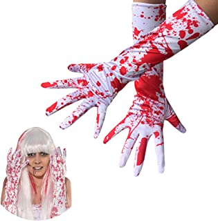Adult Bloody Gloves Elbow Length - Halloween,Christmas,Party,Decoration,Accessories(White)