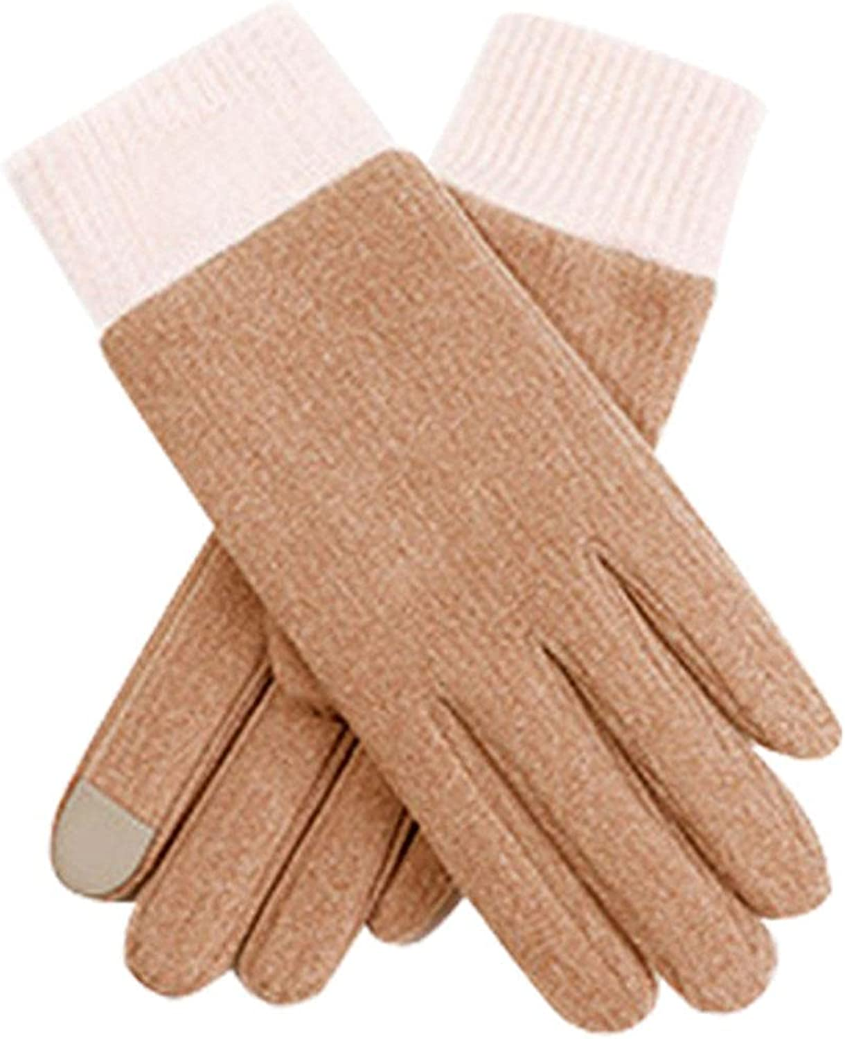 Women Winter Warm Gloves,Elastic Cuff Gloves,Windproof Lined Thick Gloves,Touch Screen Gloves for Cool Weather