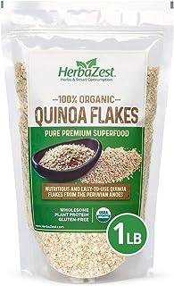 Quinoa Flakes Organic – Nutrient Rich Superfood - Complete Protein Source - Vegan, Gluten Free & USDA Certified - 16oz (45...