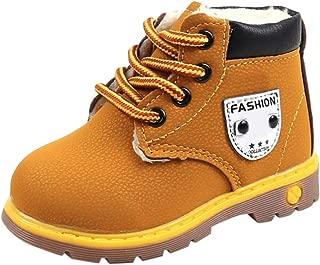 YanHoo Zapatos para niños Botas Individuales para niños más Botas Gruesas de algodón con Viento británico Botas Botas de Nieve Zapatos Botas de Nieve Niños Bebé Zapatos Casuales