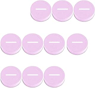 VEIREN 10 Pieces Coin Slot Lids mason-jar Coin Slot Piggy Bank Lid Stainless Steel Metal Cap Cover for Regular Mouth MASON...
