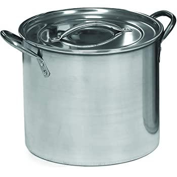 IMUSA USA L300-40314 Stainless Steel Stock Pot with Lid 8-Quart, Silver