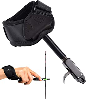 EOUS Bow Release Coumpound Bow Archery Trigger Release with Adjustable Wrist Strap