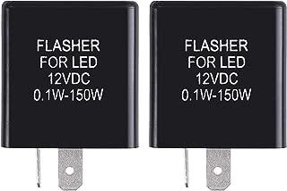 MGI SpeedWare 12vDC Silent LED Turn Signal Flasher Relay, 2-Pin (2 Pack)