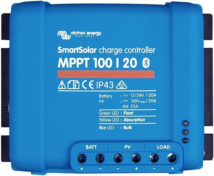 Regolatore di carica 100/20, 20 amper 12 v o 24 v, con bluetooth di bau-tech solarenergie gmbh SP-3