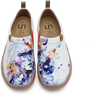 Women's Butterfly Painted Canvas Slip-On Shoes Fashion Ladies Travel Shoes Multicolor