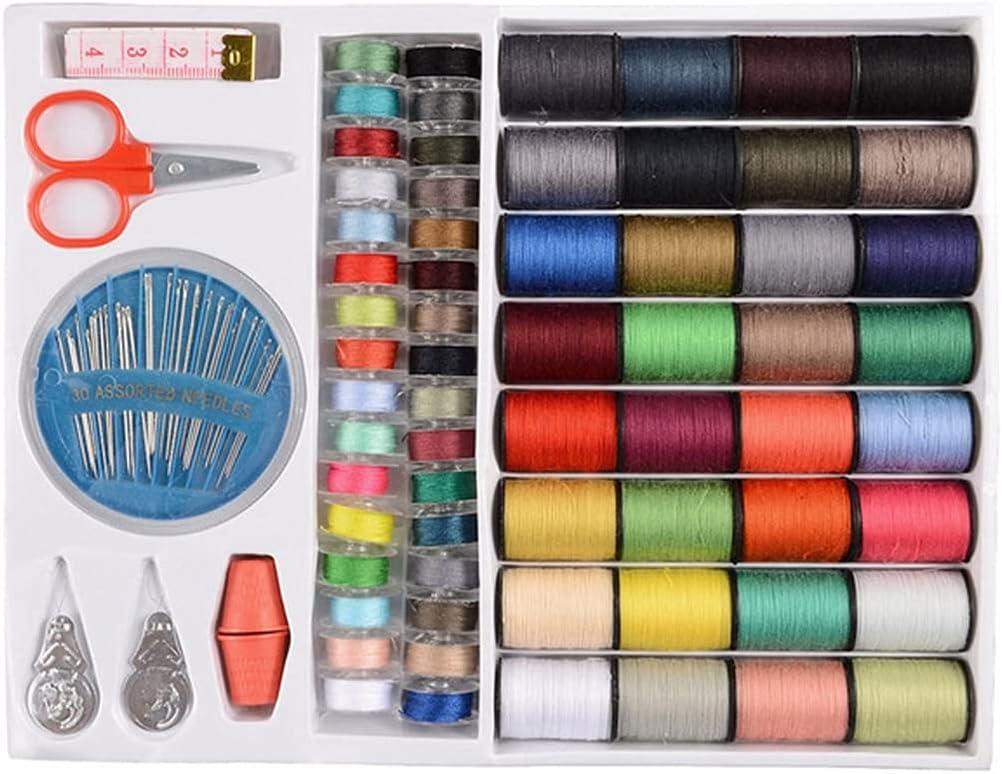 AEBDF Portland Mall Sacramento Mall 64pcs Set Spools Sewing Kit Tools Assor Threads