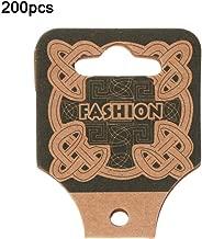 GuanjunLI - Juego de 200 tarjetas de papel, collar, pulsera, banda para el pelo, joyería, embalaje para colgar tarjetas de cartón marrón impreso
