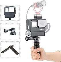 Estuche Vlogging Ulanzi V2 + trípode para GoPro 7 6 5, Carcasa Protectora de Mano Estuche Vlogging Frame Cage Mount con micrófono Adaptador de Zapata fría Accesorios para cámaras de acción