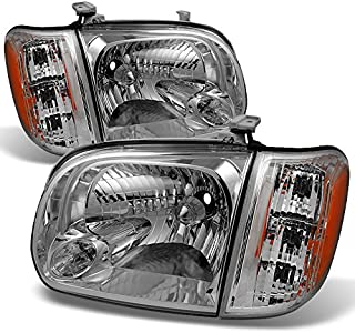 For 2005 2006 Toyota Tundra Double | Crew Cab Headlights With Corner Lights Driver + Passenger Side Pair