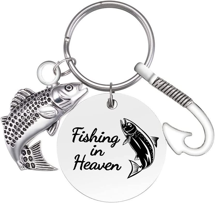 Stainless Steel Cremation Urn Keychain discount with Hook Bombing free shipping Fish Charm