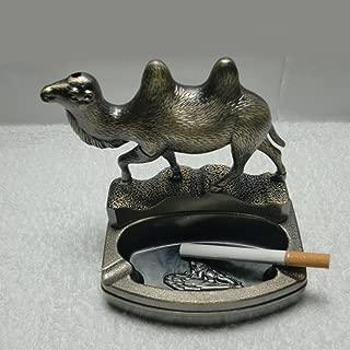 BERTERI High-Grade The Camel Tinplate Ashtray Smoking Accessories with Lighter