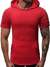 SANFASHION Gym Fitness T-Shirt Herren,2019 Neueste Modell Tank Top Tankshirt Kapuzenpullover Unterhemden Kurzarmshirt Blusen Tops Streetwear