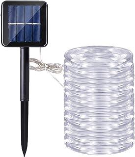 Manguera led solar, DINOWIN 72ft/22M 200leds Guirnaldas