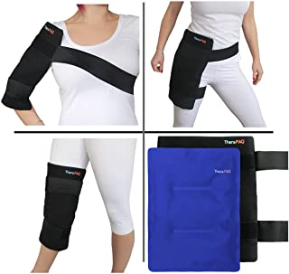 Large Reusable Gel Ice Pack with Wrap by TheraPAQ – Hot & Cold Therapy for Hip,..