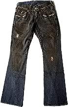 True Religion New Men's Vintage Flare Denim Jeans - Joey Medium - Black Vintage