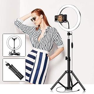 Thlevel 10 tums ringlampa med stativstativ för selfie-makeup Live Stream och YouTuTube-video-dimbar LED-kameralampa med 3 ...