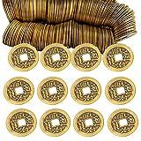 Hoobao 50PCS Chino Feng Shui Monedas, Moneda Feng Shui China Moneda I Ching,Monedas de adivinación i-Ching para Riqueza Prosperidad,Emperador Qing Dinero Colgante Antiguo Best Wishes Regalos