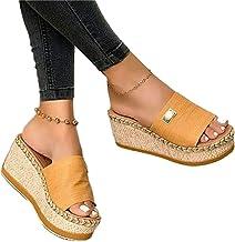 Bohemia vrouwen comfortabele Platform wig sandalen slip on casual zomer strand slipper schoenen, casual comfortabele sanda...