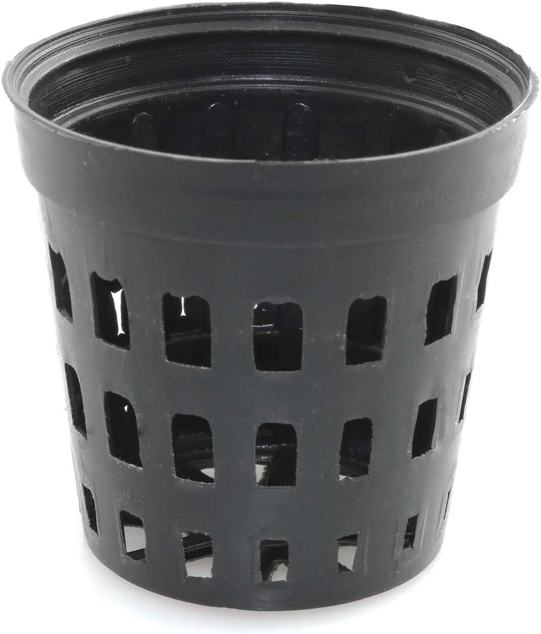 Tegg Garden Net Cups Pots 40PCS Heavy Duty Black Plastic Planting Mesh Net Hydroponic Plant Growth Insert Flower Pot Cup Basket