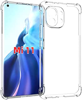 EasyLifeGo for Xiaomi Mi 11 Case Slim Shock Absorption TPU Soft Edge Bumper with Reinforced Corners Transparent Protective...