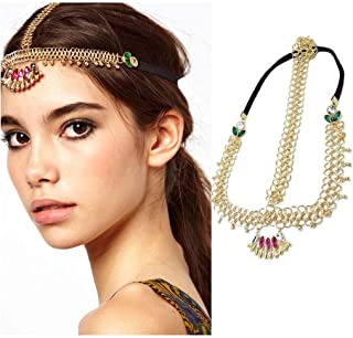 Unicra Head Chain Jewelry Vintage Hair Accessories Gold Decorative Headbands for Women and Girls