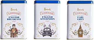 Harrods London 3 x 50 Tea Bags Gift Set London Caddy