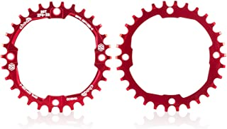 chooee 30T 32T 34T 36T 38T Chainring 104 BCD,Narrow Wide Chainring,CNC Single Chainring for 9 10 11 Speed Round