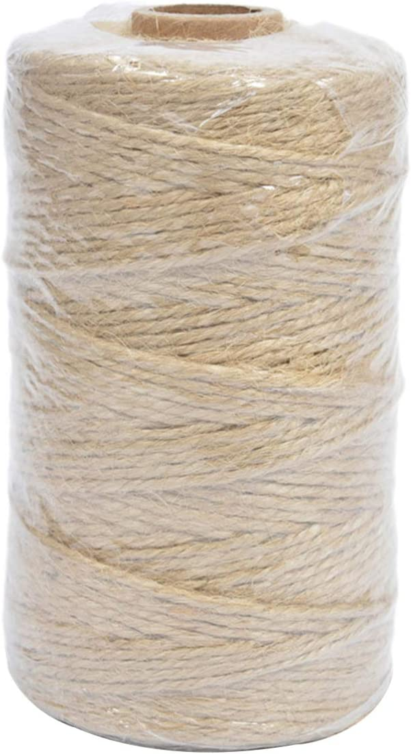 Cabilock 4 Rolls Max 63% OFF Jute Twine Braided Austin Mall Rope for Ar DIY Natural