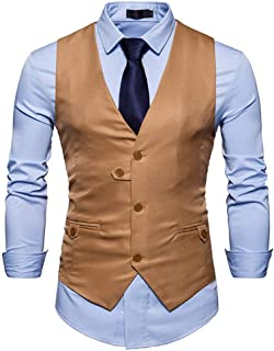 Men's Wedding Suit Vest Color Neck Solid V Modern Casual Vest Leisure Slim Fit Suit Vests Fashion Blazer Gilet Waistcoat T...