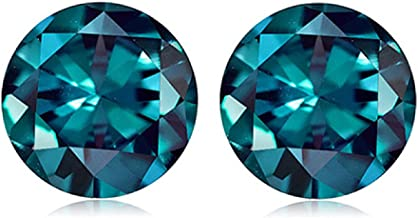 0.57-0.63 Cts of 4 mm AAA Round ( 2 pcs ) Loose Russian Lab Created Alexandrite Gemstone